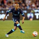 Fabian Delph's Manchester City debut ended after 20 minutes when he was carried off with a hamstring injury as Real Madrid claimed a 4-1 victory in Melbourne