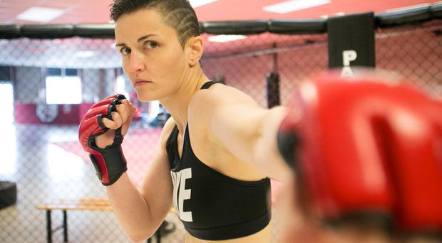 Catherine Costigan pictured in the Pankration Kickboxing Gym in Limerick