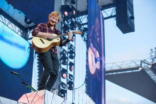 Ed Sheeran in concert at Croke Park, Dublin. Picture:Arthur Carron