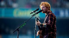 Ed Sheeran performing at Croke Park last night