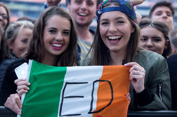 24/7/15 Ed Sheeran in concert at Croke Park, Dublin. Picture:Arthur Carron