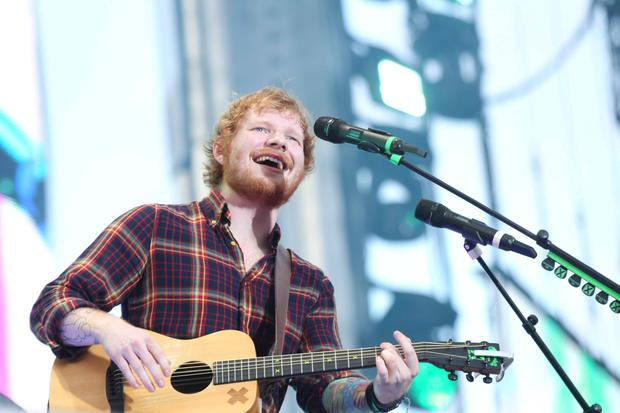 24/07/15 Ed Sheeran pictured performing at Croke Park, Dublin this evening... Pic Stephen Collins/Collins Photos