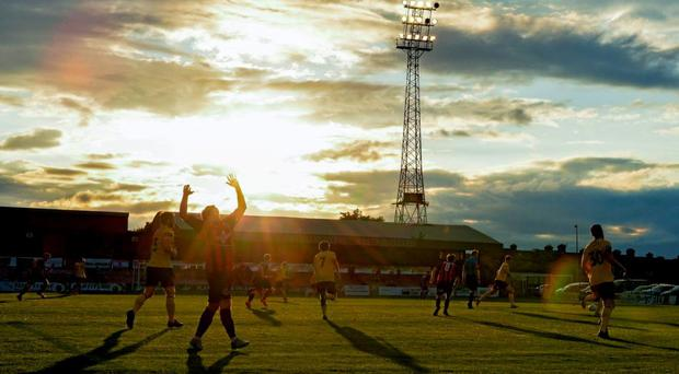 A general view of Dalymount Park during last night's match. SSE Airtricity League Premier Division, Bohemians v Derry City. Dalymount Park, Dublin. Picture credit: Cody Glenn / SPORTSFILE