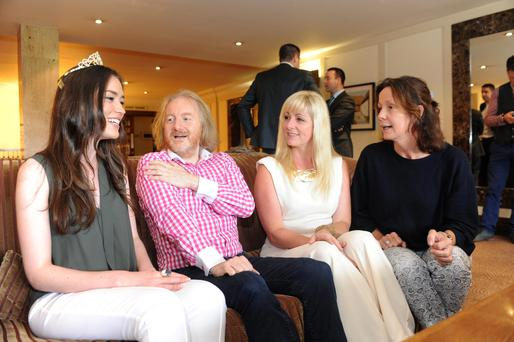 Barry Egan is amongst women — from left, Mairead Breathnach, Clodagh Irwin-Owens and Kate Cooke