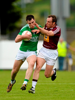 Ryan Jones, Fermanagh, in action against Francis Boyle