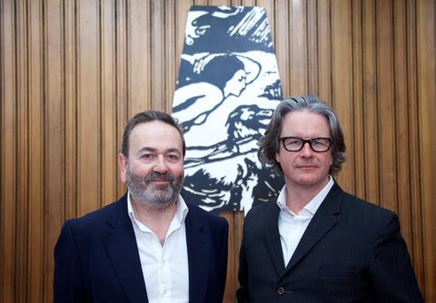 21/07/2015 Pictured (left to right): Neil Murray and Graham McLaren of the National Theatre of Scotland have been appointed as the new Directors of the Abbey Theatre. They will commence as Directors Designate on 1 July 2016 taking up their tenure full-time from January 2017. PIC: LENSMEN PHOTOGRAPHY, DUBLIN
