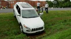 The hacked Jeep