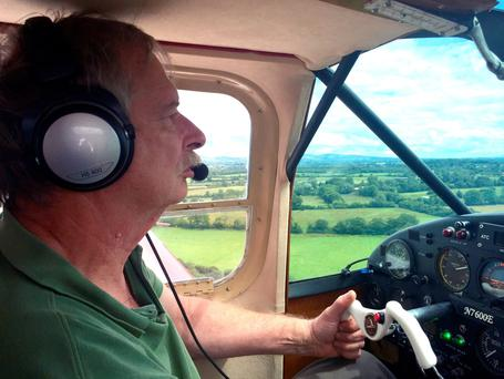 Howard Cox, 67, from Devon, who was killed in a plane crash in Ireland when he was flying a type of homebuilt mini-jet immortalised by a James Bond film Credit: John Drysdale/PA Wire