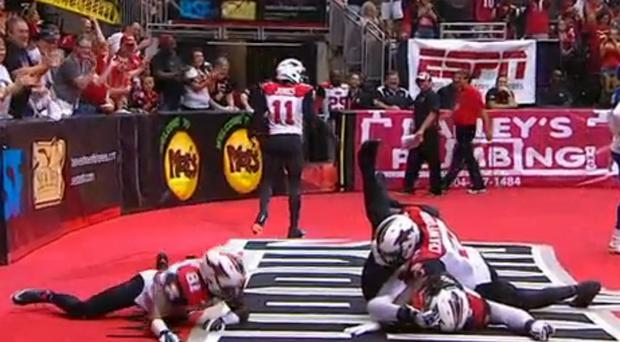 The Jacksonville Sharks created this unique celebration