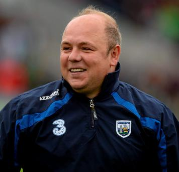 Waterford manager Derek McGrath celebrates after the game