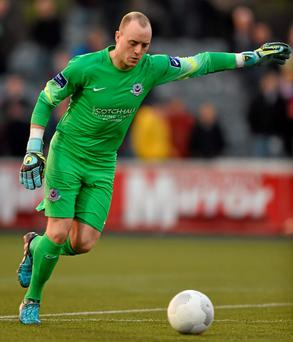 Drogheda manager John McDonnell has praised keeper Michael Schlingermann