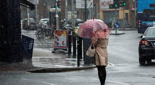 Heavy rain in Rathmines. The bad weather is set to continue this week