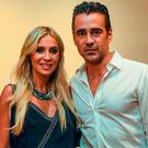 Team Ireland ambassadors Claudine Keane and Colin Farrell at a Special Olympics Ireland reception to celebrate the Special Olympics World Summer Games. The L.A. Hotel Downtown, Figueroa St, Los Angeles, United States. Picture credit: Ray McManus / SPORTSFILE