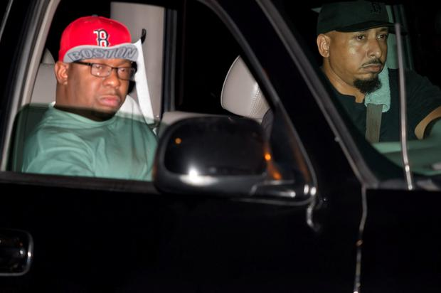 Musician Bobby Brown is seen being driven from the Peachtree Christian Hospice after Bobbi Kristina Brown passes away on July 26, 2015 in Duluth, Georgia. (Photo by Marcus Ingram/Getty Images)