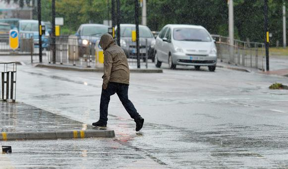 A rainy Sunday morning in Woodford, north-east London. Photo: John Stillwell/PA Wire