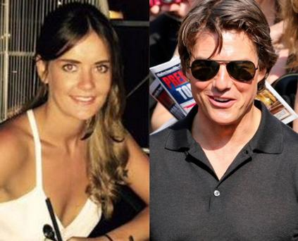 Emily Thomas (left) and Tom Cruise (right)