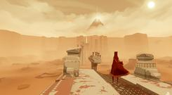 Journey: Every scene is bathed in soothing orange light