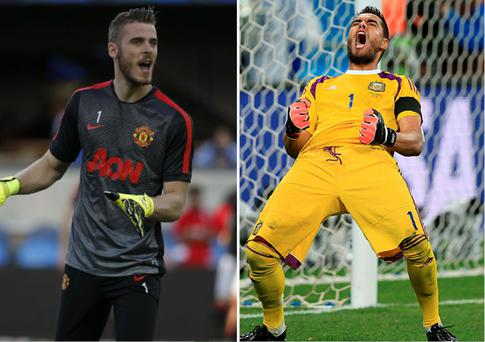 De Gea and Romero will battle it out for the number one jersey at Manchester United