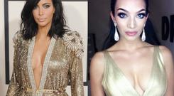 Kim Kardashian (left) and Shahira Barry (right)