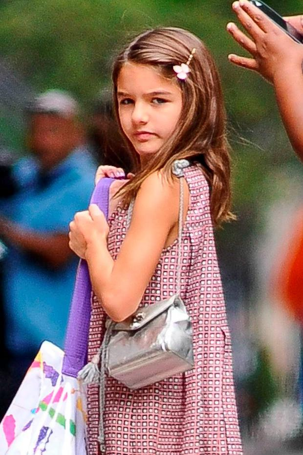 Suri Cruise in New York. Picture: FameFlynet
