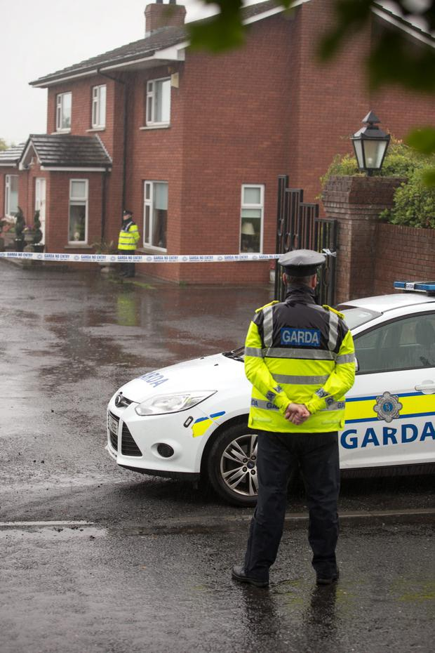 Gardai investigate the discovery of a body of a woman in her sixties at a house in Rathmore, Hackballscross near Dundalk. Picture:Arthur Carron