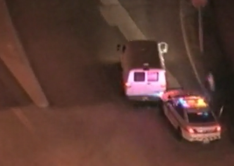 The dramatic police chase spanned two US states and ended in a crash
