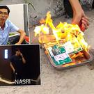 A furious Vietnamese football fan's video has gone viral in his home country after he burned ten tickets to Manchester City's game against the Vietnam national team in his anger at the players.