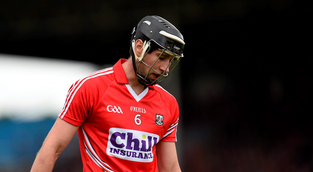 Cork defender Mark Ellis shows his disappointment after the hurlers' loss to Galway last Sunday