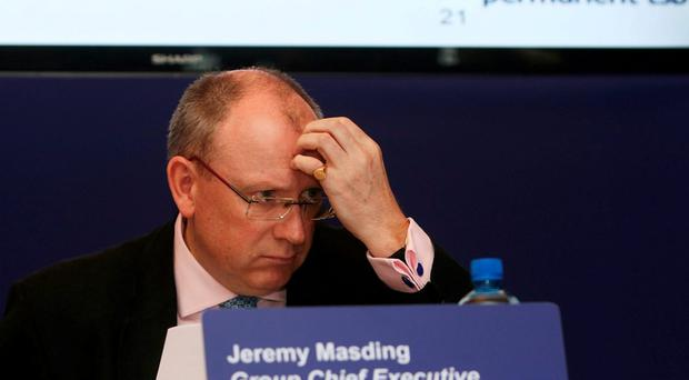 Permanent TSB chief Jeremy Masding at a press conference yesterday to discuss the mortgage redress programme. Photo: PA