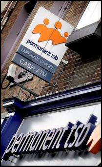 Permanent TSB on St. Stephens Green - shares in the bank were up 1.5pc