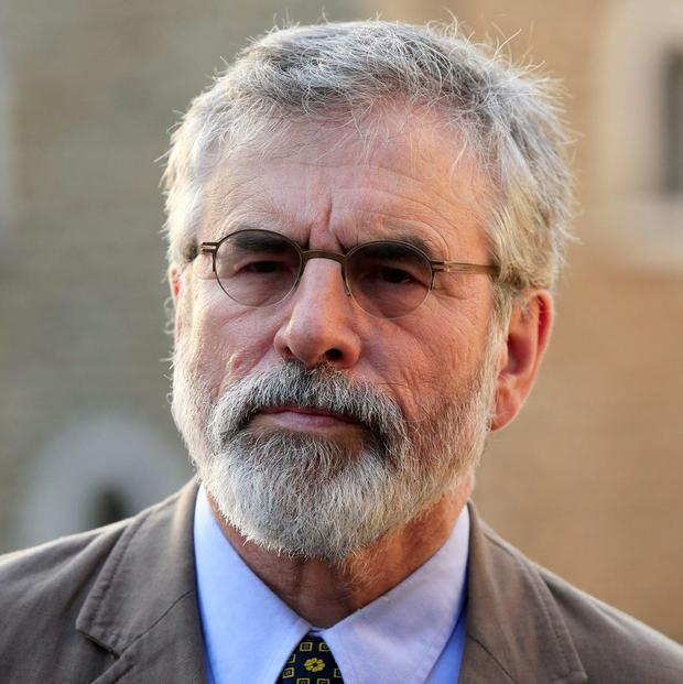 Gerry Adams said that his party had considered calling for Environment Minister Alan Kelly to resign