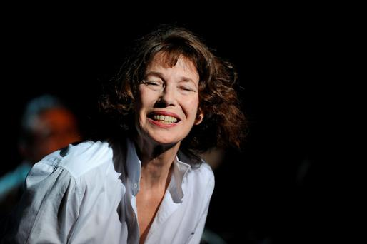 French-British singer Jane Birkin performs