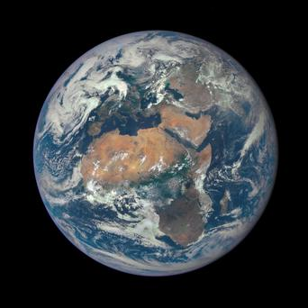 NASA have posted this picture of what African and Europe look like a million miles away. Pic: Nasa