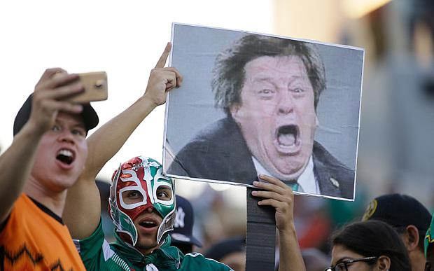Mexico fans before the Gold Cup match against Jamaica. PIC: AP