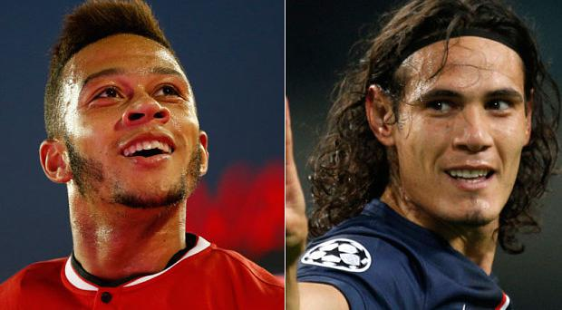 Memphis Depay and Edinson Cavani will be key in Manchester United's clash with PSG on Thursday morning