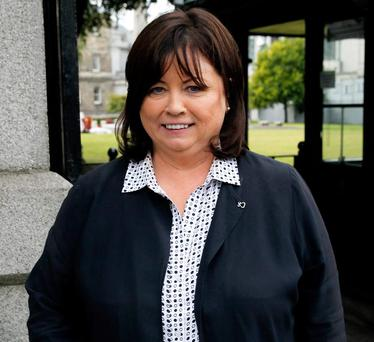 Mary Harney at Leinster House yesterday. Photo: Tom Burke