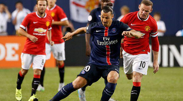 Zlatan Ibrahimovic in action against United in pre-season