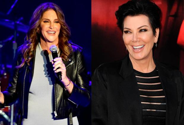Caitlyn Jenner (left) and ex wife Kris Jenner (right)