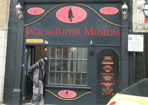 The 'Jack the Ripper' museum on Cable street in London