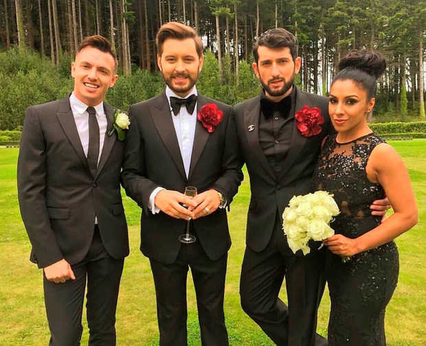 Brian Dowling and husband Arthur Arthur Gourounlia.
