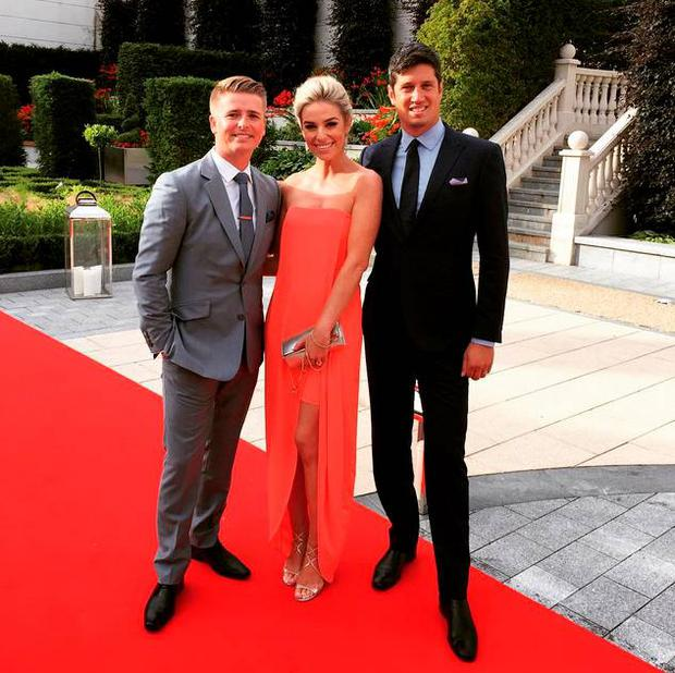 Pippa and Brian Ormond with TV star Vernon Kay Pic: Instagram