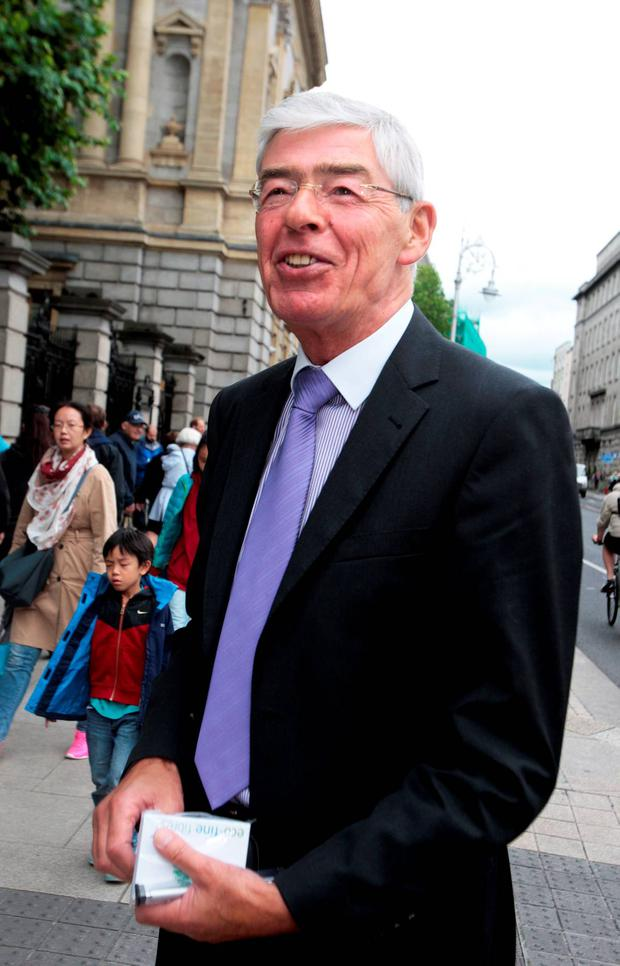 Alan Dukes,former Chairman of IBRC , a witness at the Oireachtas Banking Inquiry at Leinster House yesterday. Pic Tom Burke 30/7/2015