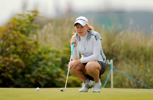 26 June 2009; Ireland's Stephanie Meadow during the Ladies Irish Open Golf Championship. Portmarnock Hotel and Golf Links, Portmarnock, Co. Dublin. Picture credit: Paul Mohan / SPORTSFILE *** Local Caption ***