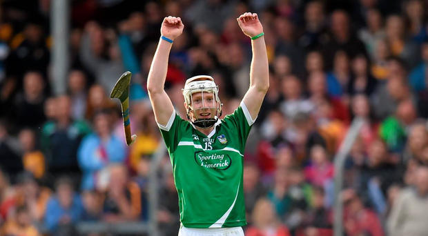 Cian Lynch celebrates his side's victory at the final whistle