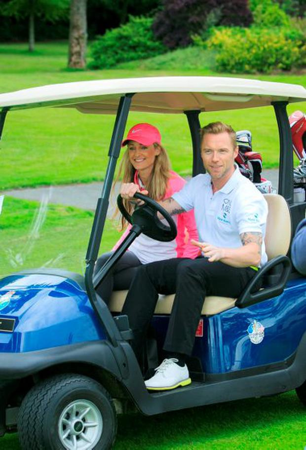 5 Ambassador and Patron for the Foundation, Ronan Keating & Storm Uechtritz during the Marie Keating Foundation Celebrity Golf Classic supported by Marks & Spencer at the K Club, Kildare