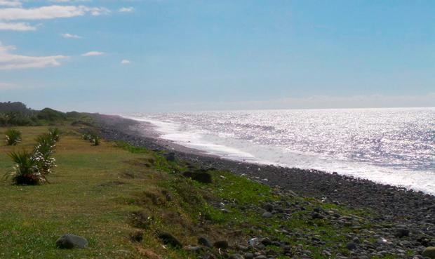 General view of the beach where a large piece of plane debris was found on Wednesday in Saint-Andre, on the French Indian Ocean island of La Reunion, July 30, 2015. REUTERS/Zinfos974/Prisca Bigot