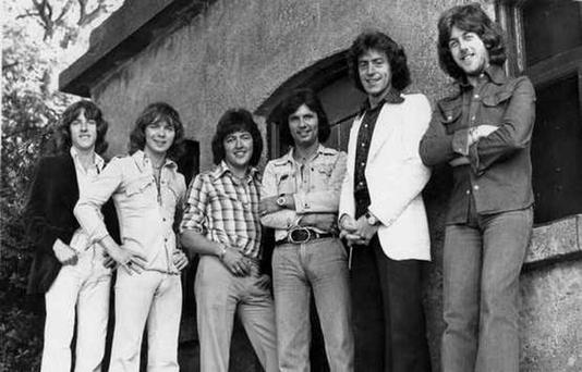 Dancehall kings: fourth from left, Des Lee, with The Miami Showband line-up in early 1975. The men who died were Tony Geraghty, Fran O'Toole and Brian McCoy. Ray Millar (third from left) and Stephen Travers (far right) also survived