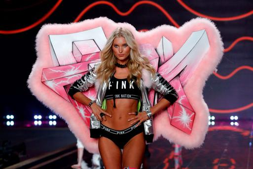 Elsa Hosk on the runway at the 2014 Victoria's Secret Runway Show - Swarovski Crystal Looks at Earl's Court Exhibition Centre on December 2, 2014 in London, England. (Photo by Tristan Fewings/Getty Images for Swarovski)