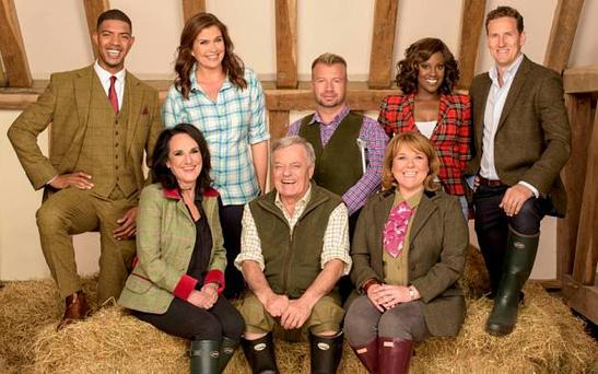 From Liberty-Bell TV FLOCKSTARS Friday 7th August 2015 on ITV Pictured: The Flockstar cast (l-r, back row) Fazer, Amanda Lamb, Lee Pearson, Kelle Bryan and Brendan Cole (l-r,front) Lesley Joseph Tony Blackburn and Wendi Peters From the heart of the great British countryside comes Flockstars, a brand new primetime knockout competion for ITV. Hosted by GABBY LOGAN, a cast of famous faces will be swapping red carpets for green fields and the all-new palace of rural show business, the Flockstars Showground. Brace yourself as ?it?s time to release the sheep? (not to mention geese) and see which of the tweed-adorned talented stars will be able to adapt their skillset to master the most impressive of countryside sports. Competing in an intense eight-week knockout, the Flockstars include national treasure and DJ for over 50 years TONY BLACKBURN; former Eternal singer, KELLE BRYAN; professional dancer and sequined star of Strictly, BRENDAN COLE; multi MOBO award-winning FAZER aka RICHARD RAWSON; Birds of a Feather star, LESLEY JOSEPH; TV presenter and former Scotish Widow, AMANDA LAMB; acclaimed actress and Coronation Street legend, WENDI PETERS; and ten-time Paralympic Gold medalist, LEE PEARSON who has been honoured with an MBE, OBE and CBE. The most essential element will be the Flockstar?s ability to tightly bond with their professional four-legged partners and guide flocks of hilariously unpredictable sheep and geese around the specially designed, and increasingly tricky, competion courses. Trained and guided by three young, professional shepherd mentors from three corners of the British countryside, Welshman IOAN DOYLE, Scotland?s EMMA GRAY and England?s ED HAWKINS, our trainee triallers must fully embrace a new way of life as ?come bye?, ?lie down?, ?away? and ?walk on? become everything to succeeding, or crashing out of, the competion. Will this brush with nature become second nature to the Flockstars as they attempt to guide the animals around t