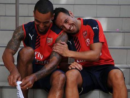 Walcott and Cazorla